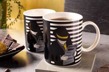 Kubek do kawy i herbaty porcelanowy altom design modern man 300 ml, dekoracja c  zmieniająca kolor