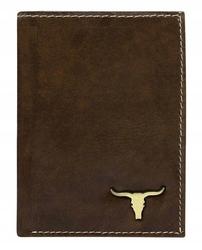 Portfel męski skórzany rfid buffalo wild brązowy - brąz