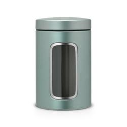 Brabantia - pojemnik z okienkiem – 1.4l - metaliczny miętowy