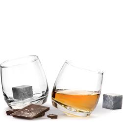 Bujające szklanki do whiskey z kamieniami chłodzącymi - zestaw prezentowy SF-5003399