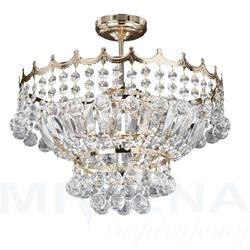 Versailles lampa wisząca 5 złoty kryształ