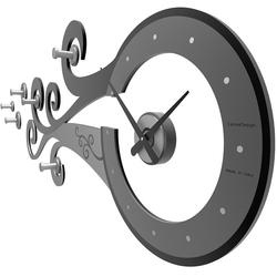 Zegar ścienny z wieszakami glum calleadesign caffelatte 10-324-14