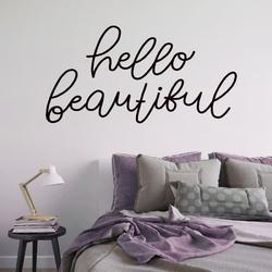 Naklejka na ścianę - hello beautiful , wymiary naklejki - szer. 180cm x wys. 90cm