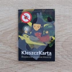 Karta do usuwania kleszczy – kleszczkarta