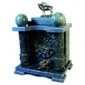 Zegar marmurowy z figurkami odlanymi z brązu