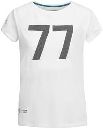 Koszulka damska mercedes amg bottas 77 biała - biały