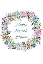 Home sweet home - plakat wymiar do wyboru: 59,4x84,1 cm
