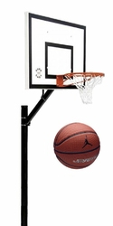 Zestaw do koszykówki 502 Sure Shot Home Court + Piłka do koszykówki Air Jordan Legacy