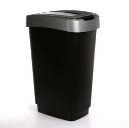 Kosz  pojemnik na śmieci z pokrywą obrotową artgos klip czarno-srebrny 50 l