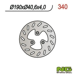 Ng340 tarcza hamulcowa pgo 50110125150 190x40,6x4