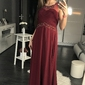 Evalola sukienka oberżyna 44003-4
