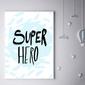 Super bohater na niebieskim tle - plakat wymiar do wyboru: 40x60 cm