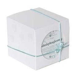 Herbata dziękujemy - wysokogatunkowa biała herbata 60g elegancki prezent podarunek podziękowanie dla rodziców gości weselnych idealny zestaw na ślub