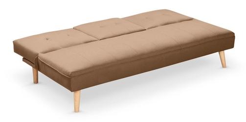 Rozkładana sofa na drewnianych nóżkach bacon