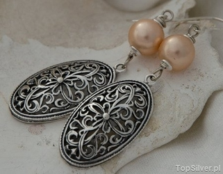 Apulia - srebrne kolczyki z perłą