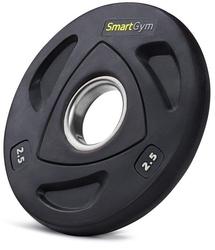 Obciążenie olimpijskie ogumowane hq 2,5 kg - smartgym fitness accessories - 2,5 kg