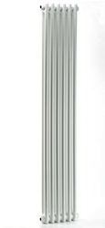 Grzejnik pokojowy retro - 2 kolumnowy, 1500x400, białyral - paleta ral