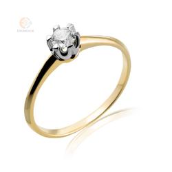 Pierścionek zaręczynowy z brylantem - wzór Au-Bd-53