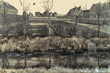 Nursery on schenkweg, vincent van gogh - plakat wymiar do wyboru: 50x40 cm