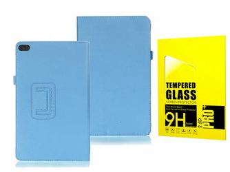 Etui STAND COVER Huawei Media Pad T2 10 Pro Niebieskie +Szkło - Niebieski