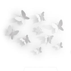 Umbra dekor ścienny, motyle 9 sztuk, biały