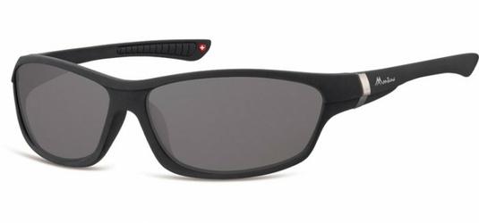 Okulary dziecięce sportowe Unisex czarne matowe CS90
