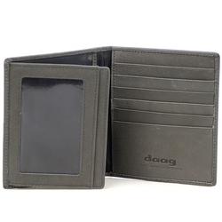 Skórzany cienki portfel  etui daag alive p-18 vintage szary - szary