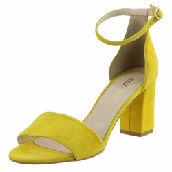 Żółte Sandały Vogue Carla 284A buty damskie