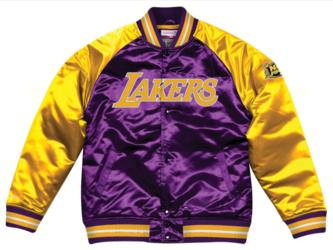Kurtka Mitchell  Ness NBA Los Angeles Lakers Tough Season Satin - Los Angeles Lakers
