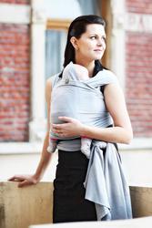 Chusta do noszenia dzieci, elastyczna, rozmiar standardowy - 5 metrów, kolor: akwamaryna
