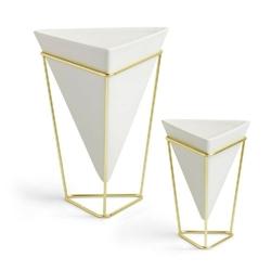 Umbra - wazonpojemnik dekoracyjny trigg - 2 szt - biały
