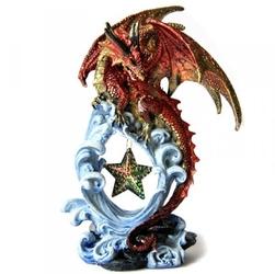 Czerwony smok z gwiazdą - figurka
