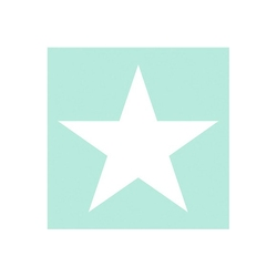 Serwetki papierowe aqua biała gwiazdka