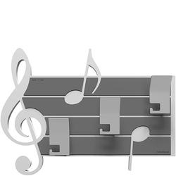 Wieszak ścienny dekoracyjny Puccini CalleaDesign biały 51-13-3-1