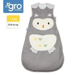 Śpiworek grobag ollie the owl - grubość 1 tog, 0-6 miesiąca, gro company