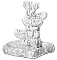 Vb 3-poziomowa fontanna ogrodowa, pojnik, ozdoba, dekoracja betonowa.