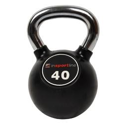 Hantla gumowana kettlebell 40 kg - insportline - 40 kg