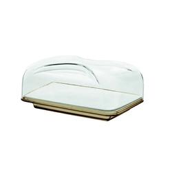 Guzzini - gocce - prostokątny pojemnik na ser, piaskowy