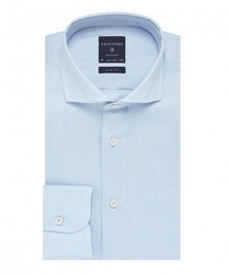 Elegancka błekitna koszula męska taliowana, slim fit, włoski kołnierzyk 37