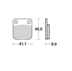 Klocki hamulcowe kh54 metaliczne moto-master