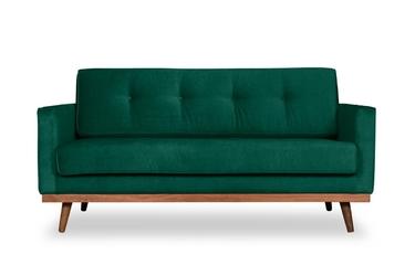 Sofa klematisar welurowa deluxe - welur łatwozmywalny peacock