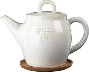 Dzbanek do herbaty höganäs keramik biały