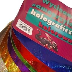 Wycinanka samoprzylepna holograficzna kolorowa blok a4 - holograficzna kolorowa
