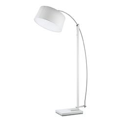 Biała lampa podłogowa z dużym kloszem edgar demarkt megapolis 408042703