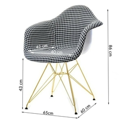 Fotel tunis szary pepitka nowoczesny