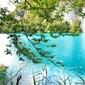 Plakat na papierze fotorealistycznym jezioro turkusowe chorwacja