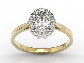 Pierścionek markiza z żółtego i białego złota z szafirem białym i diamentami 0,21 ct wzór bp-12zb - żółte i białe  szafir white