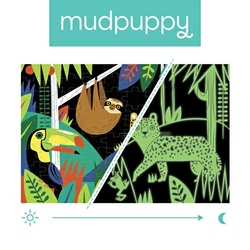 Mudpuppy puzzle świecące w ciemności las tropikalny 100 elementów 5+