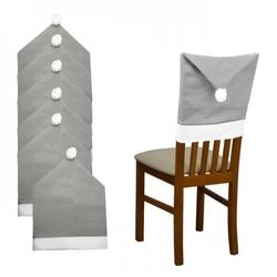 Pokrowiec na krzesło szara czapka mikołaja 6szt