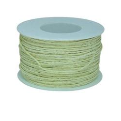 Ozdobny sznurek papierowy z drutem 100 m - kremowy